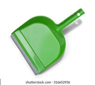 Green plastic dustpan