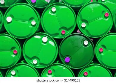 green plastic oil tank