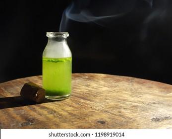Green Poison Bottle
