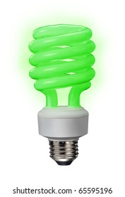 Green power fluorescent bulb saves lots of energy.