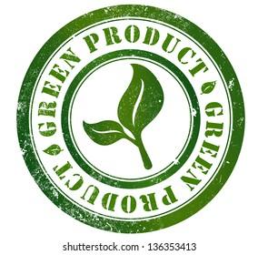 green product grunge stamp, in english language