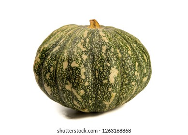 Green pumpkin isolated on the white background . - Image