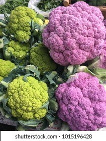 green and purple cauliflower