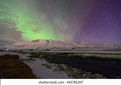 Green and Purple Northern Lights