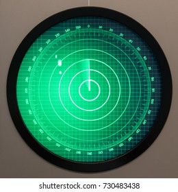 Green radar screen with dots - Safety equipment