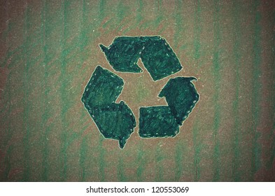 Green recycling background