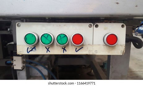 Green and red tool buttons.