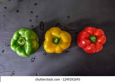 green red yellow capsicums