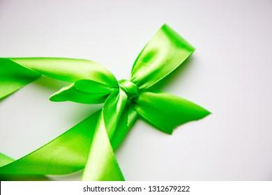 Green ribbon and bow