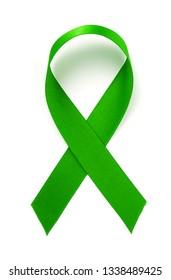 green ribbon ecology symbol isolated