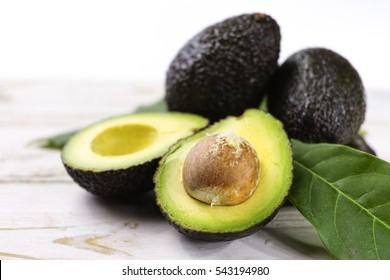 Green ripe avocado from organic avocado plantation - healthy food