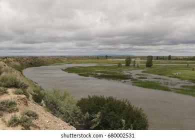 Green River flowing through Seedskadee National Wildlife Refuge, Wyoming