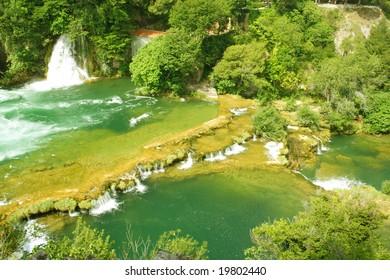 green river in KRKA National Park, Croatia