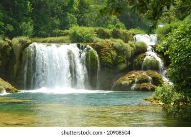 green river in KRKA National Park