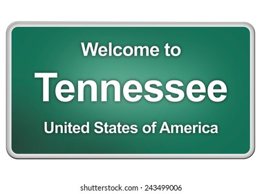 green road sign: Welcome to Tennessee
