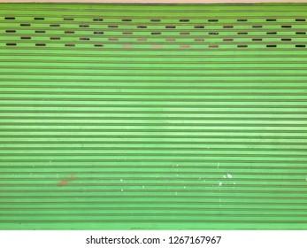 green rolling steel door