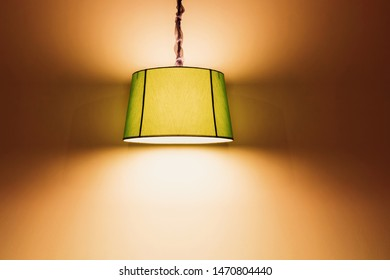 green round stylish lampshades hang from ceiling