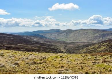 green rural Irish mountainous landscape