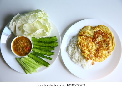 Green Salad and fried egg