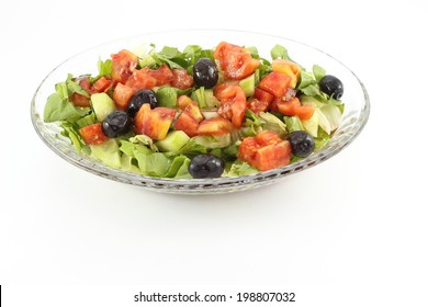 Green Salad in grass bowl