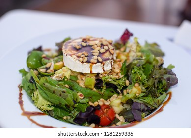 Green salate with cheese and vegetables