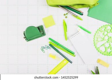 Green school kit top view