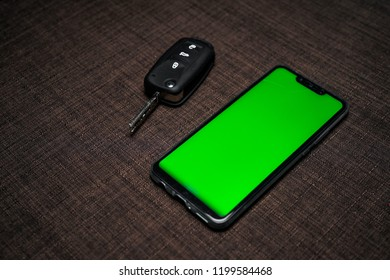 Green screen smartphone with car remote key