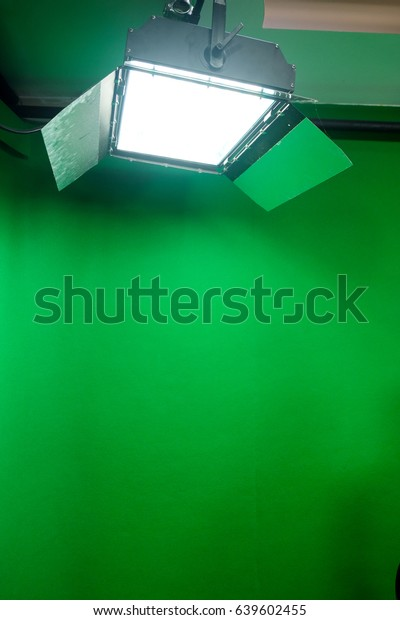 Green Screen Studio Interior Spotlights Studio Stock Photo Edit Now 639602455