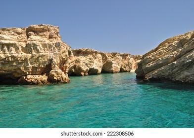 Green sea, Koufonisia, Cyclades, Greece