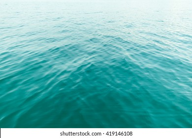 Green sea water in calm