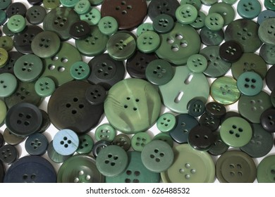 Green sewing buttons background