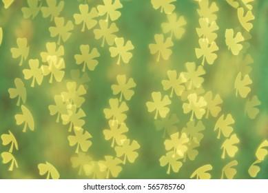 Green shamrock background. Modern, abstract flat design for card or website.