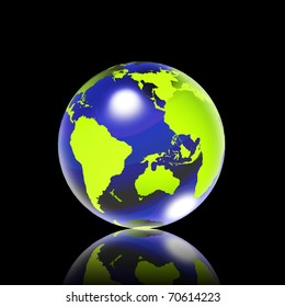 Green shiny earth. Data source: NASA