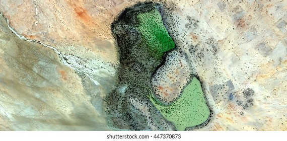 Green shout, abstract photography of the deserts of Africa from the air, Science fiction,Photographs magic,artistic,landscapes of your mind, optical illusions, abstract art