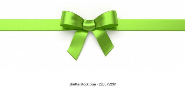 Green silk bow