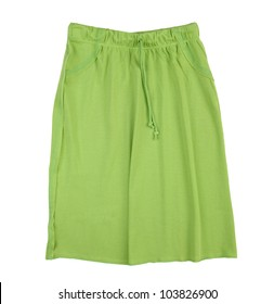 green skirt isolated on white background