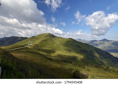 Green slopes and alpine meadows