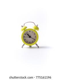 Green small alarm clock