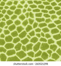 green snake skin pattern imitation. Textile texture closeup