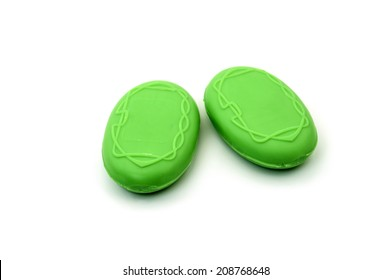 green Soaps Bar. Isolated on white background