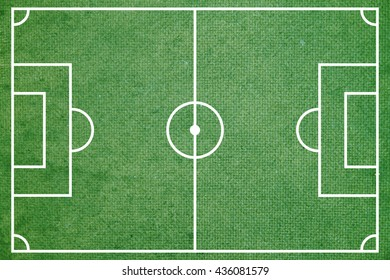 Green soccer or football field top view