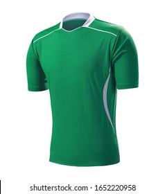 green soccer jersey, sports t-shirt, soccer uniform