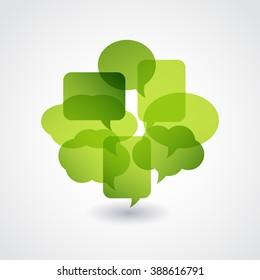 Green Speech bubble.