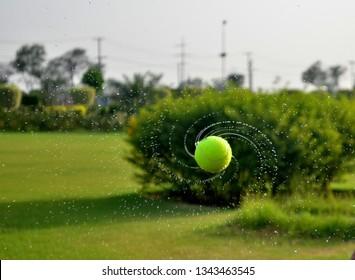 Green Spinning Ball