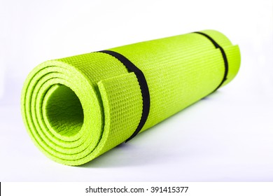 Green sport mat, isolated