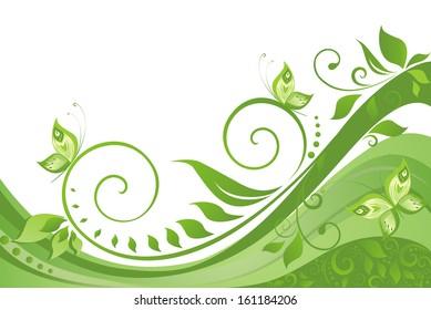 Green spring background. Raster copy