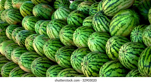 Green Stacked Watermelons