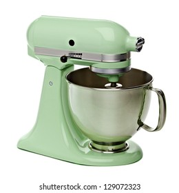 Green Stand Mixer With Clipping Path