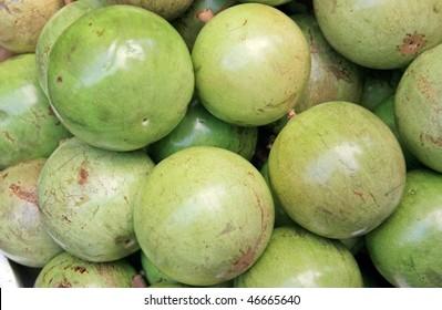 A green star apple