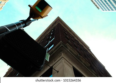 Green stoplight on street corner